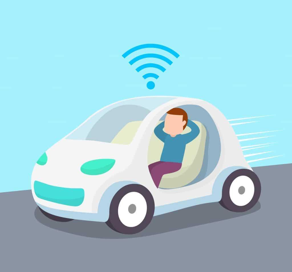 تطبيقات الذكاء الاصطناعي - سيارة ذاتية القيادة