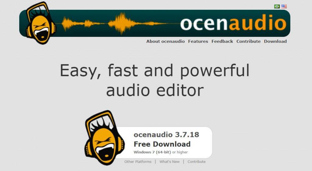 برنامج Ocenaudio