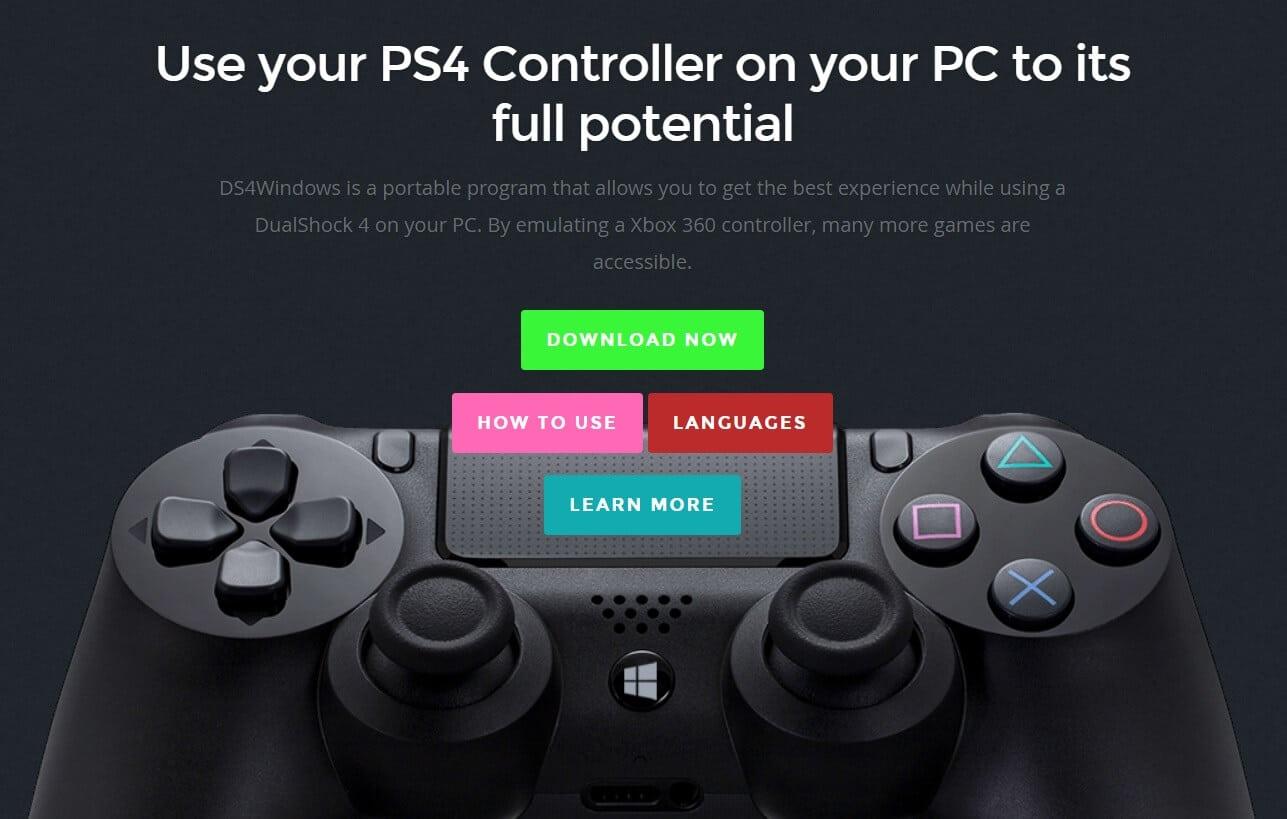 تشغيل يد PS4 على الكمبيوتر من خلال برنامج DS4 Windows
